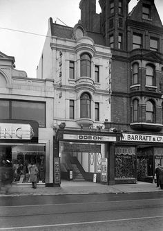 Odeon Cinema, 108 North End, Croydon, Greater London London History, Local History, Old London, East London, Old Pictures, Old Photos, Vintage Photos, Cinema Architecture, Croydon London