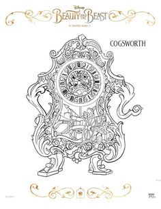 Beauty and the Beast Coloring Sheets...