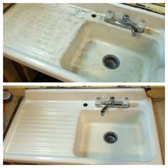 Bar Keepers Friend restores an vintage sink.