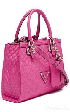 Guess Sunset Quilt Satchel Handbag