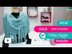 Aprenda a fazer um Xale com Vitória Quintal #Knitting #tejer - YouTube Knitting Videos, Knitting For Beginners, Crochet Shawl, Knitting Patterns, Facebook, Knit Shawls, Wool Yarn, Crochet Necklace, Cowl