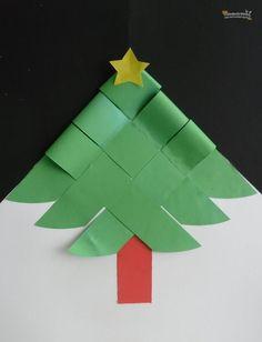 -->Bienvenidos a El rincón de los peques en Las Manualidades. Esta semana los peques más grandecitos tendrán una manualidad para imprimir y armar que es un árbol de Navidad para hacer tarjetas o una decoración de papel. Sólo tendrán que imprimir las plantillas y prestar mucha atención a las siguientes