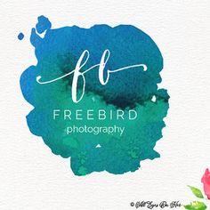 Free Bird Logo, Boho Logo, Water Color Logo, Premade Logo, Graphic Design, Logo, Watercolor Logo
