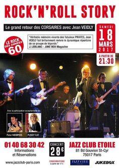 """Jean VEIDLY, le bassiste du Groupe """"LES PIRATES"""" dans les années Golf Drouot, est devenu l'attaché de presse que nous connaissons tous, notamment celui du Théâtre Edgar. Je l'ai moi-même sollicité en 2004, pour venir se produire à l'Olympia dans un spectacle..."""