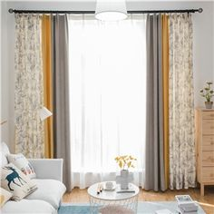 Blackout curtain printed chenille color combination for bedroom living room Living Room Decor Curtains, Home Curtains, Modern Curtains, Window Curtains, Living Room Color Schemes, Living Room Designs, Glass Door Coverings, Bedroom Color Combination, Layered Curtains