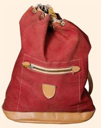 Beach day/day at the park: A 1950s rucksack from 'Vintage Menswear: A Collection from The Vintage Showroom'.