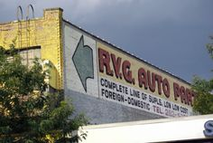 ghost sign for RVG Discount Auto Parts, Brooklyn