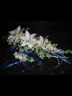 Flower paste handmade floral spray