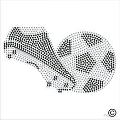 Football Soccer Boot Rhinestone Diamante Transfer Iron On Hotfix Tshirt Motif Rhinestone Crafts, Rhinestone Transfers, Seed Bead Patterns, Beading Patterns, Candlewicking Patterns, Art Boots, Soccer Boots, Glitter Art, Button Art