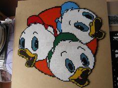 Huey, Dewey, and Louie hama beads by perleshama30