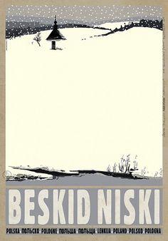 Beskid Niski - Zima Low Beskids MountainsCheck also other posters from PLAKAT-POLSKA series Original Polish poster designer: Ryszard Kaja year: 2012 size: Postcard Format, Polish Posters, Railway Posters, Kunst Poster, Pub, City Illustration, Expo, Typography Prints, Vintage Travel Posters