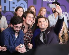 Pin for Later: The Cast of Girls Knows How to Throw a Very Glamorous Party While Andrew Rannells Took Selfies With Fans Yeah, we think Elijah would do the same.