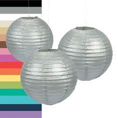 Solid Color Paper Lanterns - OrientalTrading.com