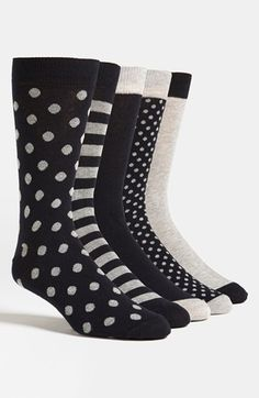 Topman Cotton Blend Socks (Assorted 5-Pack) available at #Nordstrom