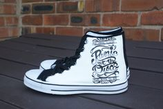 Panic at the disco hand painted canvas high tops by Eleanorsplace