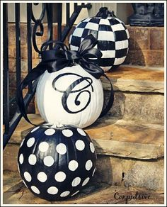 diy decor painted pumpkins could have a halloween message your address or your monogram old plastic pumpkins getting painted