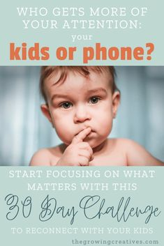 Do we spend enough quality time with our kids, or has technology become too much of a distraction? Try this 30 day challenge to reconnect with your kiddos. Love My Kids, Children In Need, Our Kids, Gentle Parenting, Kids And Parenting, Parenting Hacks, Subscription Boxes For Kids, Happy Mom, Fun Challenges