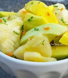 """Pineapple & Mango Chow from """"The Chowman"""" in Barataria, Trinidad."""