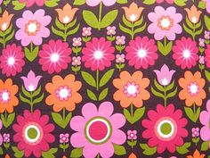 love this fabric Vintage Floral Fabric, Retro Fabric, Retro Floral, Vintage Fabrics, Vintage Patterns, Vintage Prints, Fabric Wallpaper, Pattern Wallpaper, Fabric Patterns