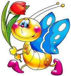 Clipart - use as a stencil . Cartoon Clip, Cute Cartoon, Clip Art Pictures, Cute Pictures, Gb Bilder, Cute Clipart, Gif Animé, Cute Illustration, Cute Art