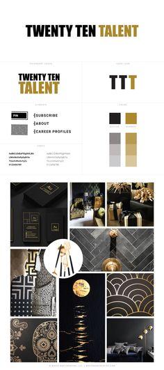 Twenty Ten Talent Custom Blog Header by White Oak Creative - logo design, wordpress theme, mood board inspiration, blog design idea, graphic design, branding