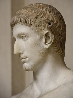 """Young member of the Julio-Claudian dynasty (so-called """"Marcellus""""). A close-up. Ancient Egyptian Art, Ancient Rome, Ancient Aliens, Ancient Greece, Ancient History, Roman Artifacts, Ancient Artifacts, Roman History, Art History"""