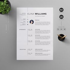 Clean, Modern and Professional Resume and Letterhead design. Fully customizable easy to use and replace color & text. Give an employer a great first impression and help you land your dream job. Modern Resume Template, Cv Template, Resume Templates, Design Templates, Graphic Design Cv, Web Design, Resume Layout, Resume Cv, Desgin