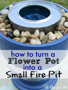Easy instructions on how to make your own small fire pit! theblueeyeddove.com #diy #firepit