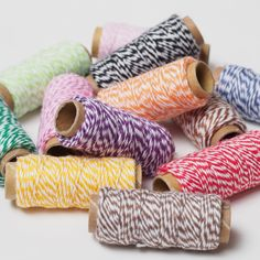 A cheery little rainbow of baker's twine - or, butcher's twine as we gather it is sometimes called too! Sourced from: @papersource