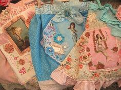 A trio of vintage-style mermaid aprons. Absolutely gorgeous!