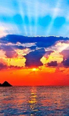 Beautiful landscape from the Sun Sea and Mountains - Beautiful Sun Set Views