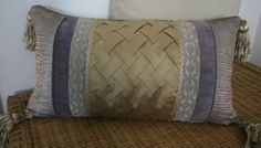 Slate and Gold Basketweave Rectangle by TheTangerineSleeve on Etsy