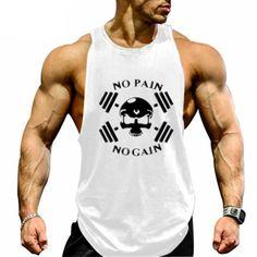 Mens Tank Tops Gym Vests Shirt Cute But Psycho Bodybuilding Workout Vest