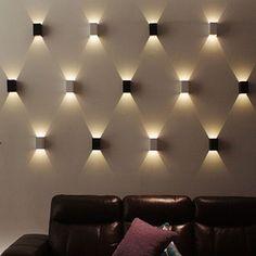 Stilvolle LED Wandlampe Wandleuchte Flurlampe Leuchte treppelampe Warmweiß - All For Decoration Sconces Living Room, Living Room Lighting, Bedroom Lighting, Kitchen Lighting, Exterior Wall Light, Exterior Lighting, Track Lighting Fixtures, Cool Lighting, Wall Fixtures