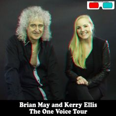 Brian May And Kerry Ellis - 3D Anaglyph Photography.