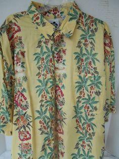 Aloha Hilo Hattie Hawaiian Shirt 100% Silk Foral Ships Planes Lei Hula Girls XL #MadeInCHina #Hawaiian