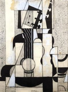 Still Life with Guitar, 1913 by Juan Gris (1887-1927, Spain)