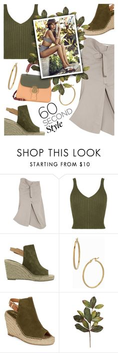 """""""60 Second Style: Asymmetric Skirts"""" by dixiebelle81 on Polyvore featuring Bassike, WearAll, Seychelles, Bony Levy and Burberry"""