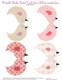 Free Printable Birdies and Birdie House