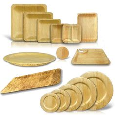 Disposable Bamboo Sheath Bowls Dinnerware by Bamboo Studio - BuyGreen.com  sc 1 st  Pinterest & 50 pc Leafware Square Eco Dinnerware Value Set | Dinnerware Dinners ...