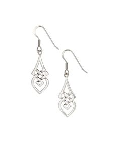 Posh Silver Company Sterling Silver Celtic Knot Drop Earrings | zulily