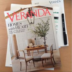 The home shown in the next months Veranda is unbelievably gorgeous! Visit their blog Velvet and Linen.