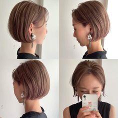 Bob Haircut For Fine Hair, Korean Short Hair, Cabello Hair, Gorgeous Hair Color, Hair Arrange, Hair Photo, Short Hairstyles For Women, Hair And Nails, Short Hair Styles