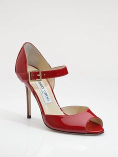Jimmy Choo Patent Leather Mary Jane Pumps... Ohhhhhmygoodnessilovethese!