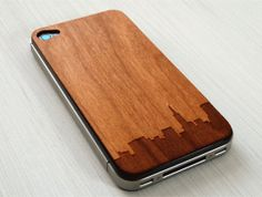San Francisco Skyline Etching on Real Wood by grandmaswoodentooth, $20.00