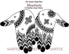 Mauritania - Mauritanian henna designs by Heather Caunt-Nulton - $10.00 : Artistic Adornment, Henna Supplies - henna tattoo kits, henna powder, professional mehndi supplies