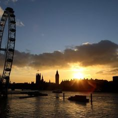 London sunset. From olimpic games app.