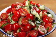 Cucumber Kinda-Caprese Salad: Official Fat Flush Recipe