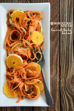 Moroccan-Spiced Carrot Date Salad: one bite and you'll be transported to far-off spice markets (raw, vegan).