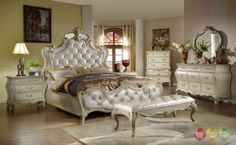 Sanctuary-French-Glamour-4pc-Leather-Queen-Bedroom-Set-in-Antique-White